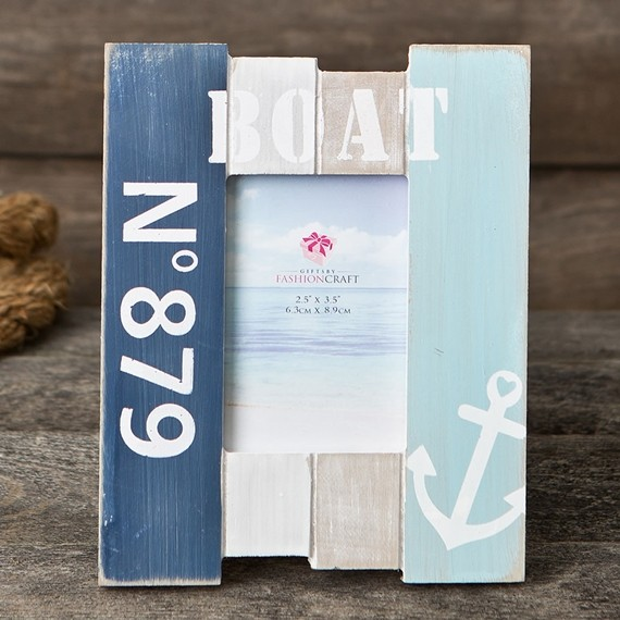 FashionCraft Nautical-Themed Anchor Design 2.5 x 3.5 Wood Boat Frame ...