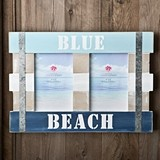 "FashionCraft ""Blue Beach"" Distressed-Look 4 x 6 Wood Frame"