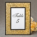 FashionCraft Glorious Gold Mosaic 4 x 6 Glass Frame w/ Black Borders