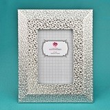 FashionCraft Silver-PU Frame 4 x 6 with Wide Border and Beveled edge