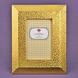 FashionCraft Gold-PU Frame 4 x 6 with Wide Border and Beveled edge