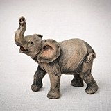 FashionCraft Minature Natural-Looking Baby African Elephant Figurine