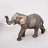 FashionCraft Medium-Size Natural-Looking African Elephant Figurine
