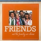 FashionCraft Orange and White Friends Design 6 x 4 Photo Glass Frame