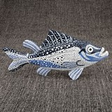 FashionCraft Sea Fish Figurine Decorative Object with Stippling Design