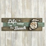 FashionCraft 'Life Is Better at the Beach' Shell Wall Sign