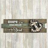 FashionCraft 'Hope Is An Anchor of the Soul' Anchor Motif Wall Sign