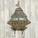 FashionCraft 'Relax on the Beach' Boat Shaped Wall Sign