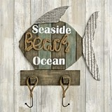 FashionCraft 'Seaside - Beach - Ocean' Fish-Shaped Wall Sign