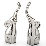 FashionCraft Medium-Size Intertwined Silver Electroplated Elephants
