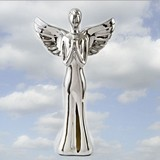 FashionCraft Glorious Silver Electroplated Standing Angel Figurine