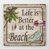 FashionCraft 'Life is Better at the Beach' Wood Wall Plaque