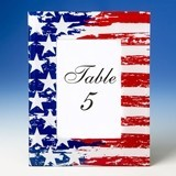 FashionCraft Patriotic Stars & Stripes Flag Design 4x6 Glass Frame