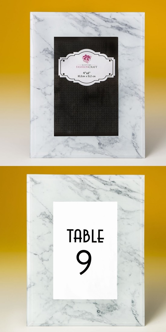 FashionCraft Magnificent Marble-Look 4x6 Frame/Table Number Holder