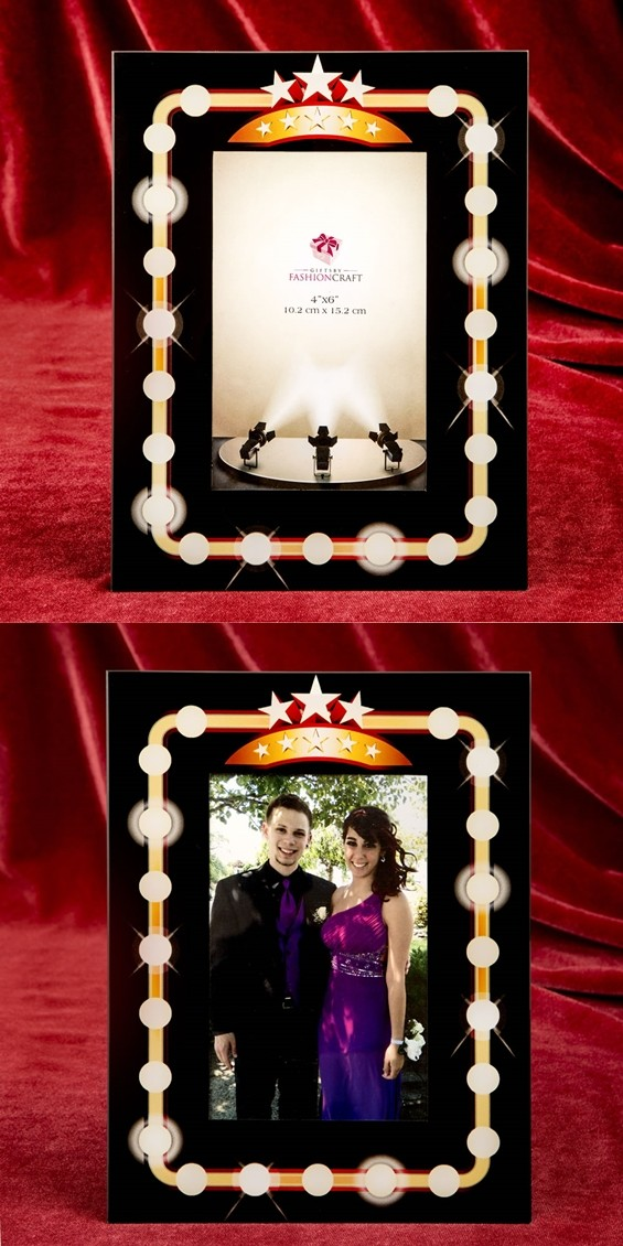 FashionCraft Hollywood Marquee-Style 4x6 Frame/Table Number Holder