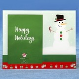 "FashionCraft ""Happy Holidays"" Snowman Scene 5x7 Glass Frame"