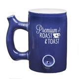 Premium 'Roast & Toast' Blue Ceramic Mug from Gifts by FashionCraft