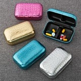 FashionCraft Stunning Croc Pill Boxes in Metallic Colors (Set of 12)