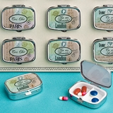 FashionCraft Travel Destinations Design Pill Boxes (Set of 12)