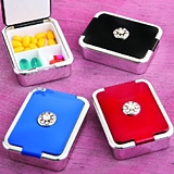 Elegant Bejeweled Mulit-Compartment Pill Boxes (Set of 12)