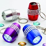 FashionCraft 'Bling Collection' LED Flashlight Key Chains (Set of 24)