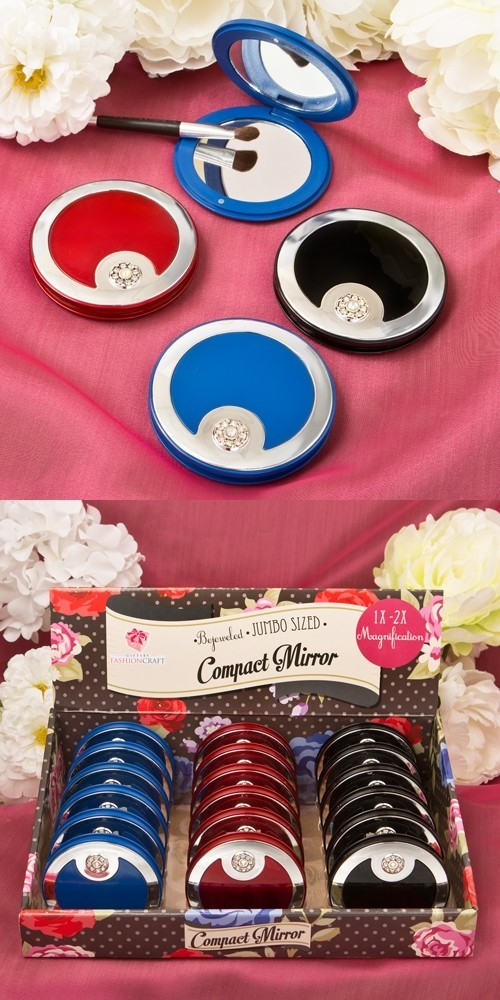 FashionCraft Bejeweled Luxury Compact Mirrors (Set of 18)