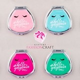 FashionCraft Cute 'Hello Gorgeous' Fan-Shaped Pill Boxes (Set of 12)