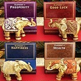 Decorative Good Fortune Mini Elephants (Assorted Set of 4)