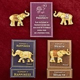 Lucky Golden Elephants with Upswung Trunks Magnets (Set of 12)