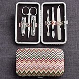 Stylish Chevron Design Travel Manicure Set (Package of 12)