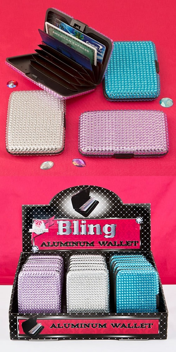 FashionCraft Bling Collection Aluminum Credit Card Holders (Set of 18)