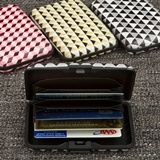 FashionCraft Geometric Design Aluminum Wallets (Set of 18)
