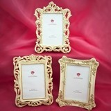 FashionCraft Ivory-Colored Baroque Design Frames (Assorted Set of 3)