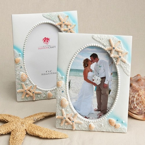 FashionCraft Seaside Theme Picture Design Frame/Table Number Holder