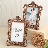 FashionCraft Copper Color Baroque Design Frame/Table Number Holder