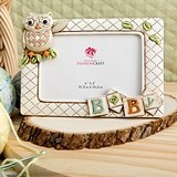 FashionCraft Baby Owl with Alphabet Blocks Design Frame