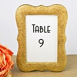 Plaque-Shaped Gold Bling Glitter Table Number Holder/Frame