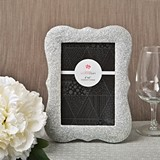 Plaque-Shaped Silver Bling Glitter Table Number Holder/Frame