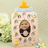 My First Year Baby Bottle-Themed Collage Frame