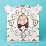 Circus Tent-Themed Baby Frame with My First Year Collage