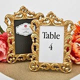 FashionCraft Baroque Gold Metallic Frame/Table Number Holder