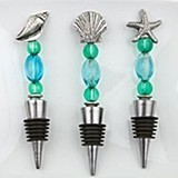Beach-Style Bottle Stoppers from Gifts by FashionCraft (Set of 12)