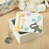 FashionCraft Adorable Giraffe and Elephant Covered Trinket Box