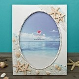 FashionCraft Glorious Hand-Painted Beach-Themed Frame