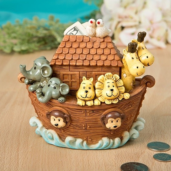 FashionCraft Adorable Noah's Ark Bank