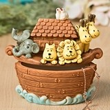 FashionCraft Charming Noah's Ark Hand-Painted Trinket Box