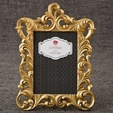 FashionCraft Gold Metallic Baroque Design Frame/Table Number Holder