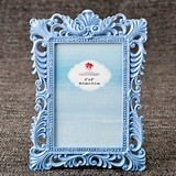 FashionCraft Pastel Blue Baroque Design Frame/Table Number Holder