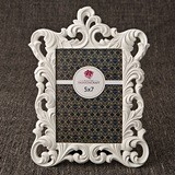 FashionCraft Opulent Pure White Baroque Design 5 x 7 Frame