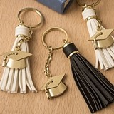 Congrats Graduate Tassel Key Chains w/ Gold Grad Cap Charm (Set of 16)